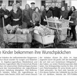 """""""Westfalenblatt"""" vom 23.12.09"""